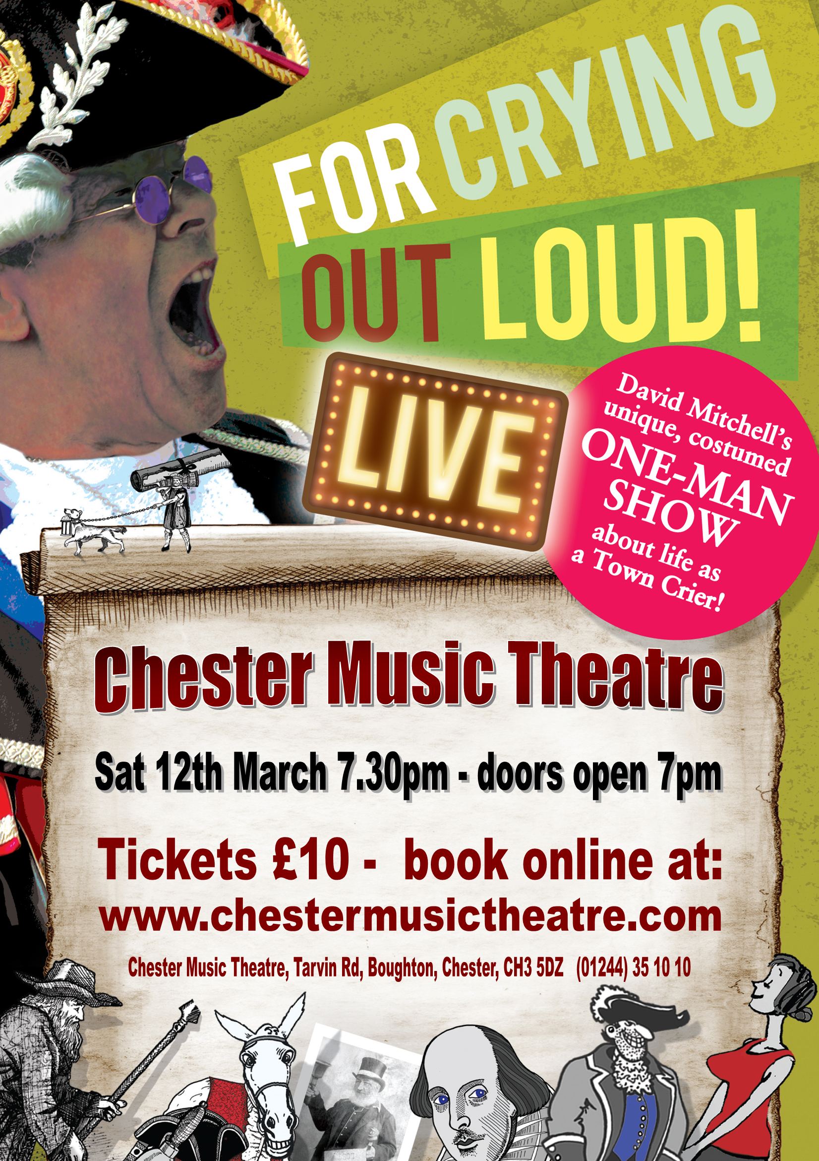 One Man Shoe Chester Music Theatre March 2016